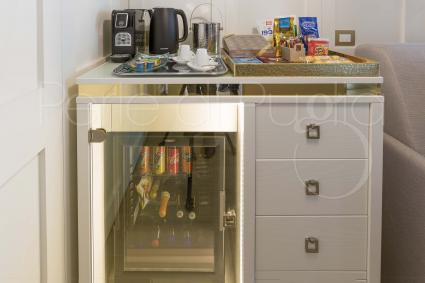 Suite Adria has mini fridge and electric coffee machine