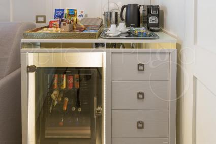 The Egea suite comes with a well-stocked minibar